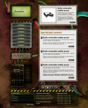 Web electric home template by cifra