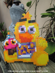 Chica from FNAF   Bead Sprite by Shendijiro