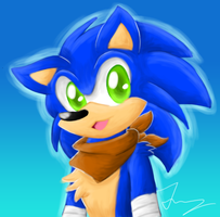 Sonic Portait by HeartinaRosebud