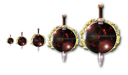 Steampunk  Geidi Prime Planet with Sword Icon by yereverluvinuncleber