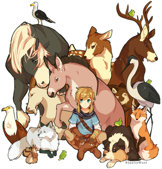 Breath Of The Wild WildLife by JuulieWoof