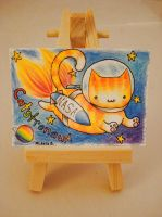 ACEO Trade Catstronaut by MyFebronia