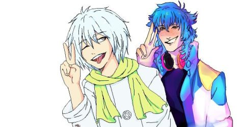 Clear and Aoba. DMMd by Rosecat12lovelife