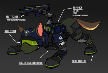 PAW Patrol Redesigned: SWAT Chase by nobodyherewhatsoever