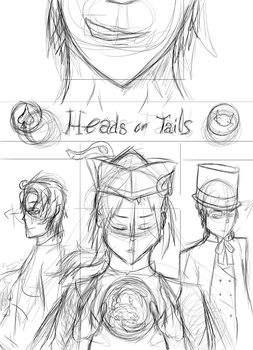 Heads or Tails Sketch by RenHakura