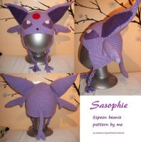 Espeon beanie hat by Sasophie