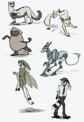 Warm up sketches Oct 2014 by Finion591