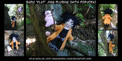 Basic 'flat' Jing Plushie by KeyshaKitty