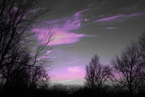 purple clouds by ILikeBoth