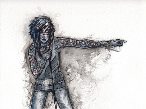 Andy Biersack by clockworkViper