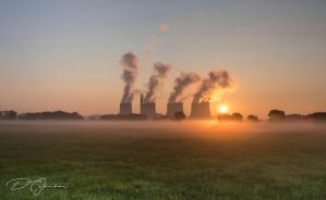 Power Station at Dawn... by DeoIron