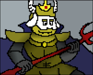 Asgore Dreemur pixelart (Read Descrip.) by RebelliouSergey