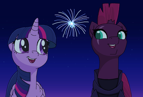Into the Fireworks by EmeraldBlast63