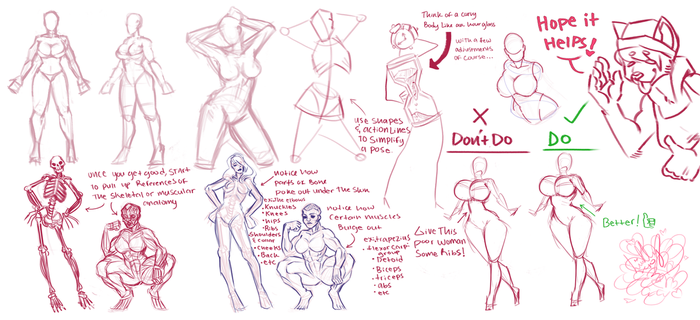 tutorial on curvy women ~ by catthing