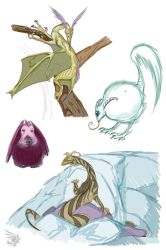 2013 Fast Critter Sketches 01 by calger459