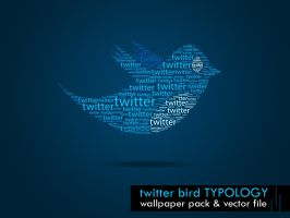 typo twitt bird by nishad2m8