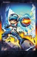 Mighty No 09 Cover Art by RobDuenas