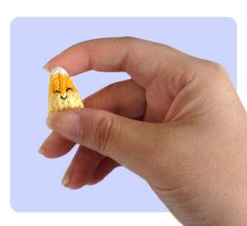 Tiny Candy Corn Knitted Stuffed Toys by AmareeLis