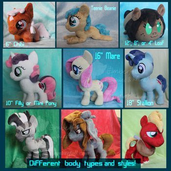 Pony Plush Style Guide by EmberfallPlush