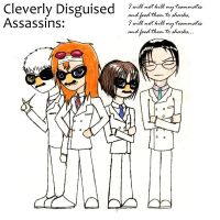 Cleverly Disguised Assassins by yellow-jester-kitty