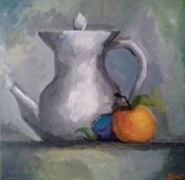 Still life painting (acrylics) by HaluzCZ