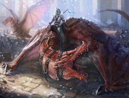 Dragon rider by Angevere