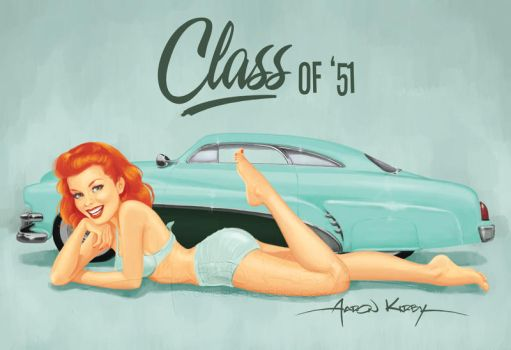 Hirohata pin up by AtomicKirby
