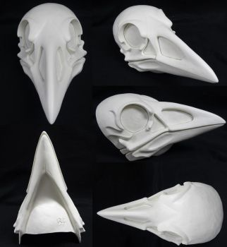 Skeletal Crow Resin Blank by DreamVisionCreations