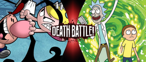 Billy and Mandy vs. Rick and Morty by goldsilverbronzekid