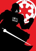 darth vader sillouette by goth-thug