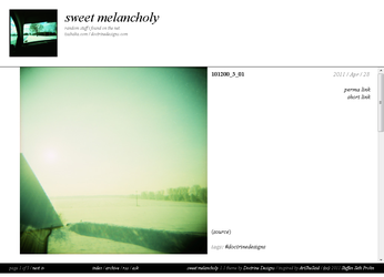 sweetmelancholy.tumblr.com 1.1 by DoctrineDesigns