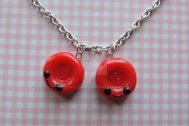 Two Red Blood Cells Bracelet FIMO by AliceAriel