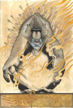 Mandrill on Fire by jonomarks