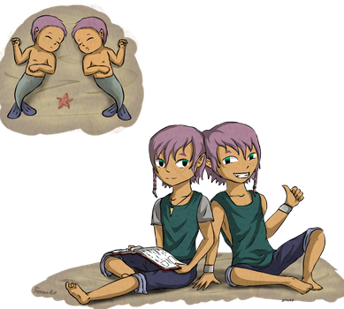 Meet the Twins! Cazz and Aeric. by Fenz-art