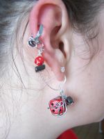 Dice earrings and cuff by stardove3