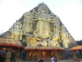 the biggest durga pratima in the whole world by rosehert