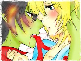 fionna and marshall lee by Invader-celes