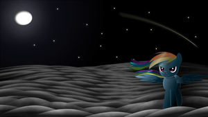 Rainbow Dash in moonlight. by Izeer
