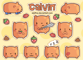 Calvin Mini Sticker Sheet by steffne