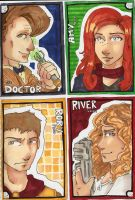 Doctor Who Art Cards by yamiswift