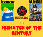 Homsar VS Ms Fortune in Mismatch of the Century by BLADEDGE