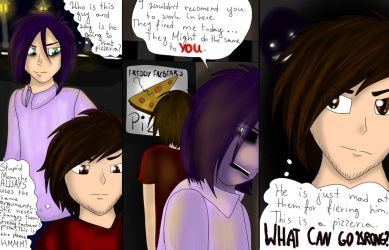 fnaf comic-Jeremy and Purple Guy by ATerriblePaintArtist