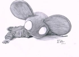 deadmau5 drawing by Mo-Photographer