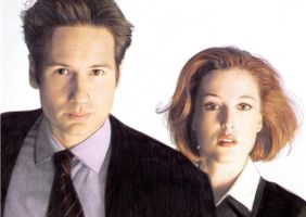 Mulder and Scully by Down-Incognito