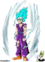 What if : Gohan Super Sayajin Blue by Jupony