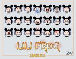 Lili Frog Smilies by monkeyzav
