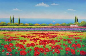Poppies, and the Sea - Arteet by Arteet