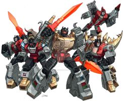Dinobots groupshot by Dan-the-artguy