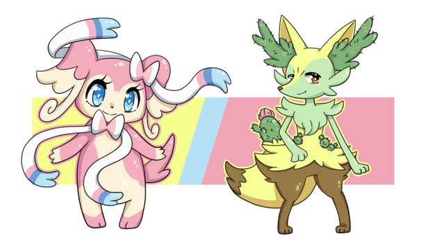 PKMN - Penelope and Cacti Evolves! by JCBrokenLight