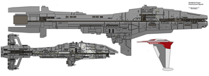 mandalorian Destoyerv2 by AnowiShipyards